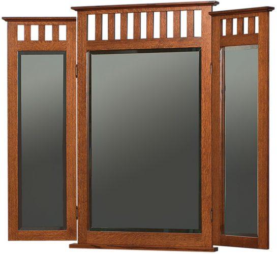 Amish Schwartz Mission Tri View Mirror