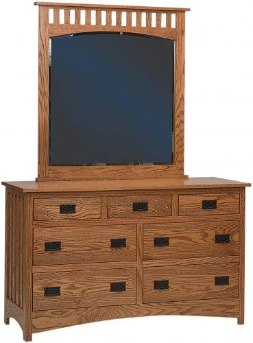 Amish Schwartz Mission Seven Drawer Dresser