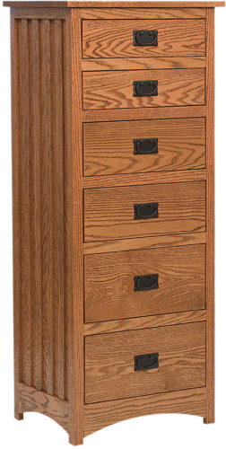 Amish Schwartz Mission 6 Drawer Lingerie Chest