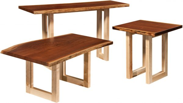 Amish Kalispel Live Edge Occasional Table Collection