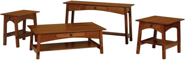Amish McCoy Open Occasional Table Set