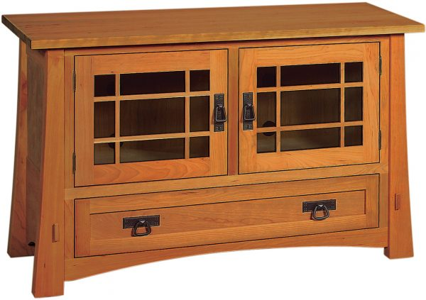 Amish Modesto Small Single Drawer TV Cabinet