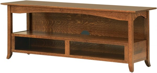 Amish Shaker Hill Large Open TV Stand