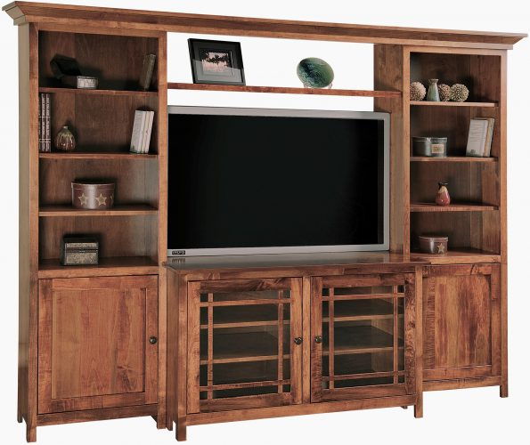 Amish Jason Mission TV Wall Unit