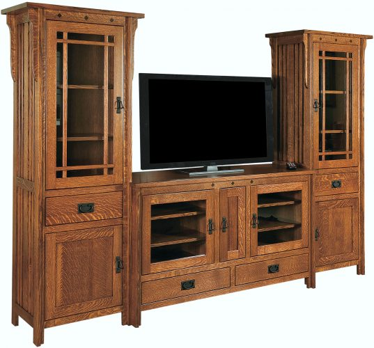 Amish Straight Royal Mission Console and Towers