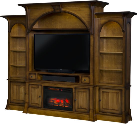 Amish Breckenridge Fireplace Entertainment Center