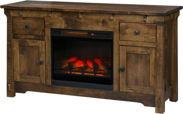 Amish Manitoba Fireplace TV Cabinet
