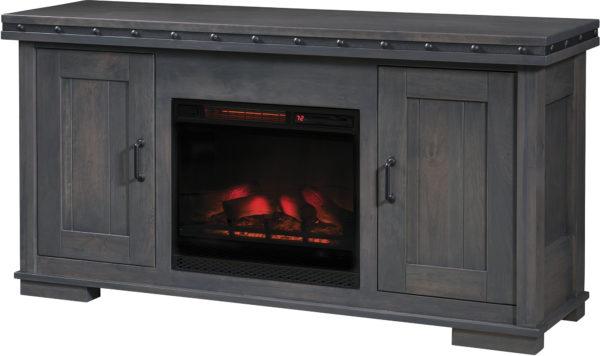 Amish Pasadena Fireplace TV Cabinet
