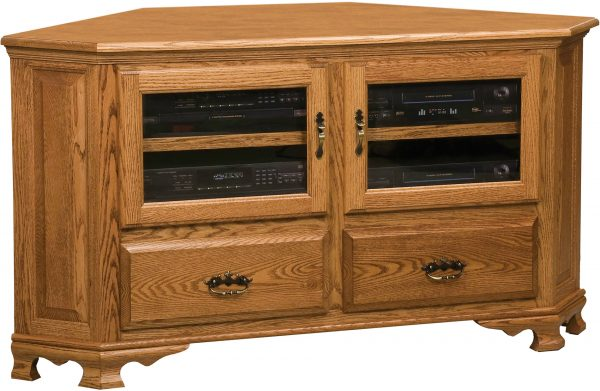 Amish Heritage Large Corner TV Cabinet