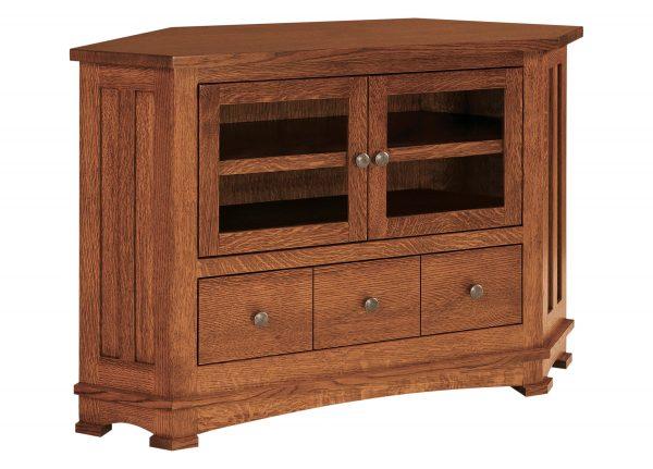 Amish Kenwood Small Corner TV Cabinet