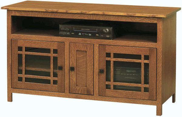 Amish Mission Three Door TV Cabinet