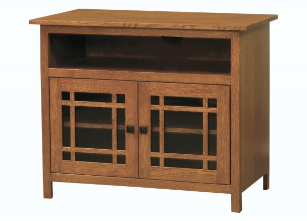 Amish Mission Small Two Door TV Cabinet