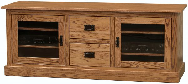 Amish Mission Wide Two Door TV Cabinet