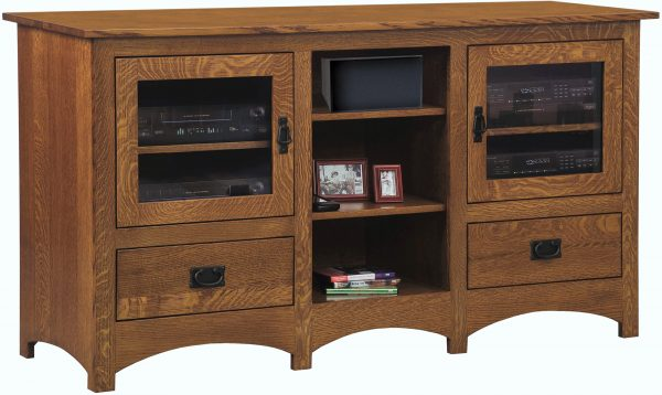 Amish Mission TV Stand with Open Space