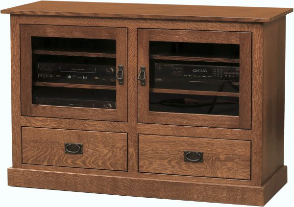 Amish Mission Two Drawer TV Cabinet