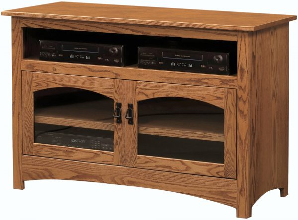 Amish Mission Two Door TV Cabinet