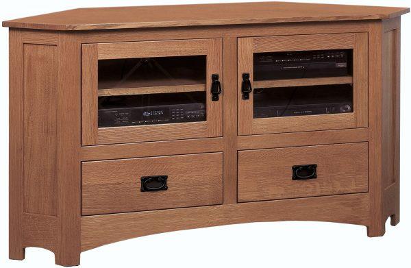 Belk Mission Large Corner TV Cabinet