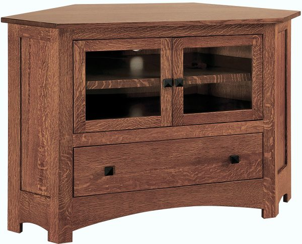 Amish Mission Small Corner TV Stand