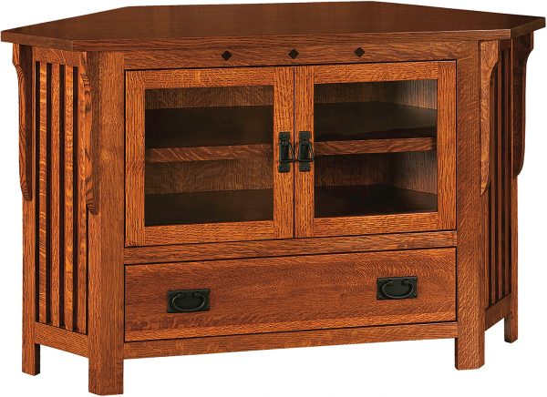 Amish Straight Royal Mission Corner TV Cabinet