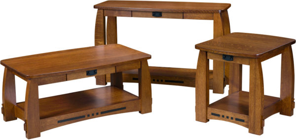Amish Colebrook Open Occasional Table Set