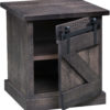 Amish Durango End Table with Open Door