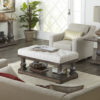 Amish Imperial Living Room Setting with Cushioned Coffee Table