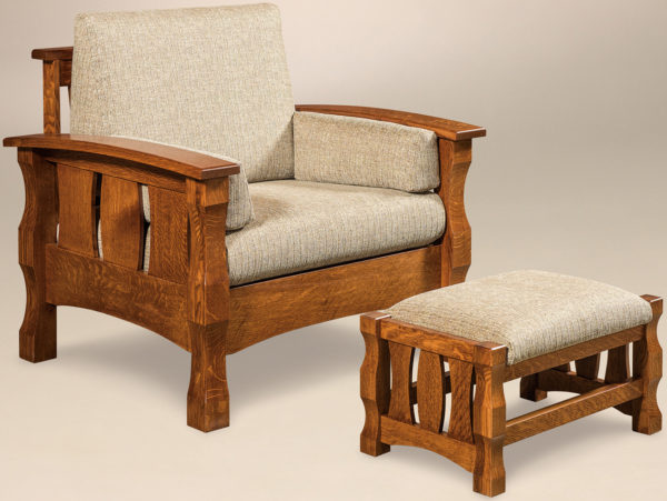 Amish Balboa Chair with Footstool