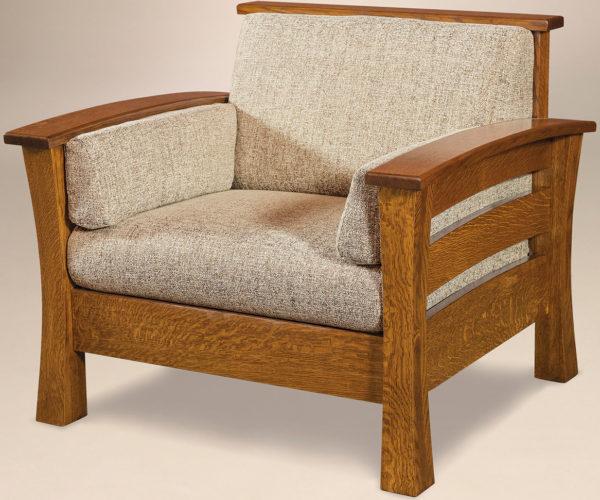 Amish Barrington Solid Back Chair