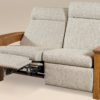 Amish Barrington Loveseat Fully Reclined