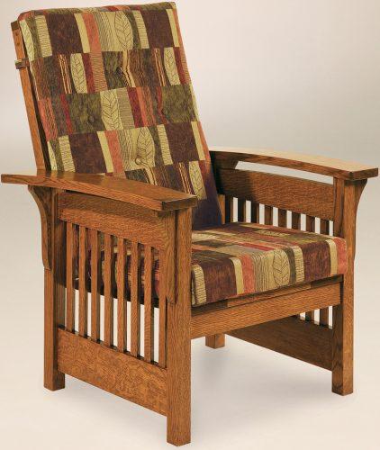 Amish Bow Arm Slat Chair