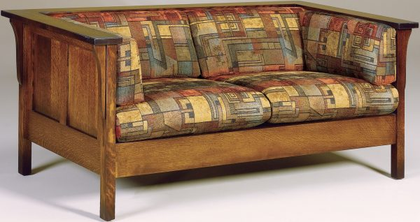 Amish Cubic Paneled Loveseat