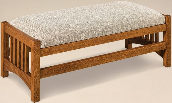 Amish Cubic Slatted Footstool