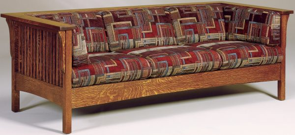 Amish Cubic Slatted Sofa
