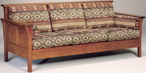 Amish Highback Paneled Sofa