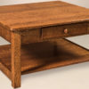 Amish Contemporary Mission Large Square Coffee Table