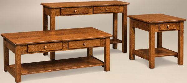 Amish Contemporary Mission Occasional Table Set