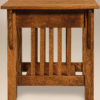 Amish Mission Slat End Table Side Detail