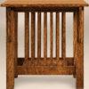 Amish Slat End Table Side Detail
