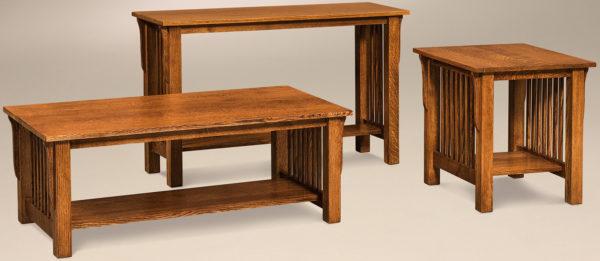 Amish Slat Occasional Table Set