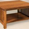 Amish Slat Square Large Coffee Table