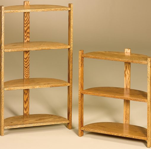 Amish Half Round Three and Four Tier Stands
