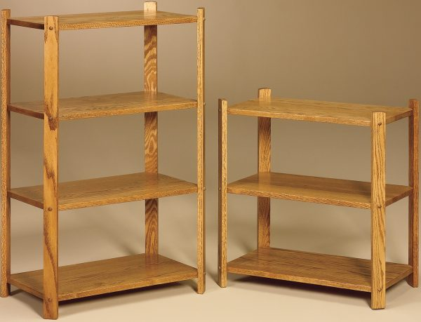 Amish Large Rectangle 3 and 4 Tier Stands
