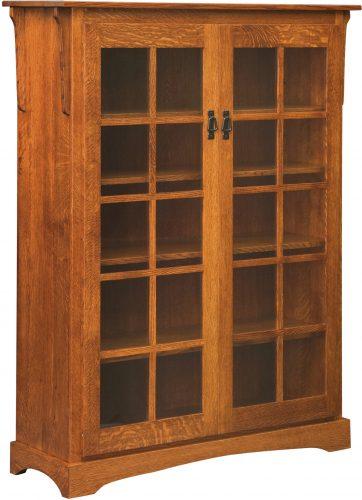 Amish Mission Large 2 Door Bookcase