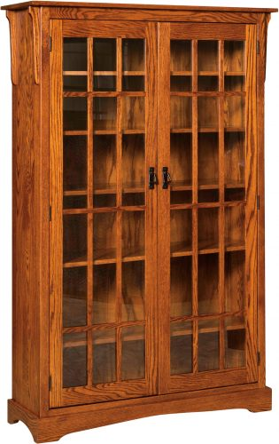 Amish Walker Mission XL Two Door Bookcase