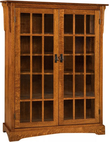 Amish Walker Mission Large Two Door Bookcase