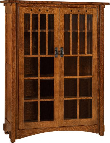 Amish Dynasty Mission Large Two Door Bookcase