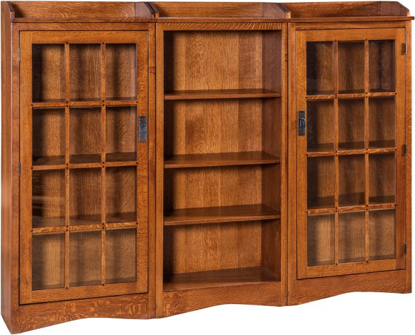 Amish Butterfly Mission Three Piece Bookcase