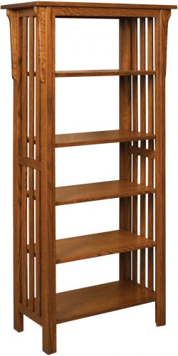 Amish Honeymaze Medium Four Shelf Bookcase