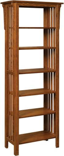 Amish Honeymaze Large Five Shelf Bookcase