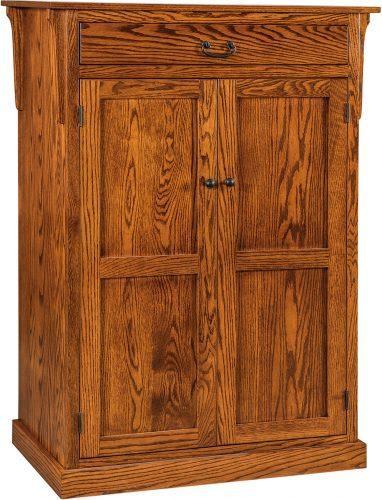 Amish Express Mission Leaf Storage Cabinet